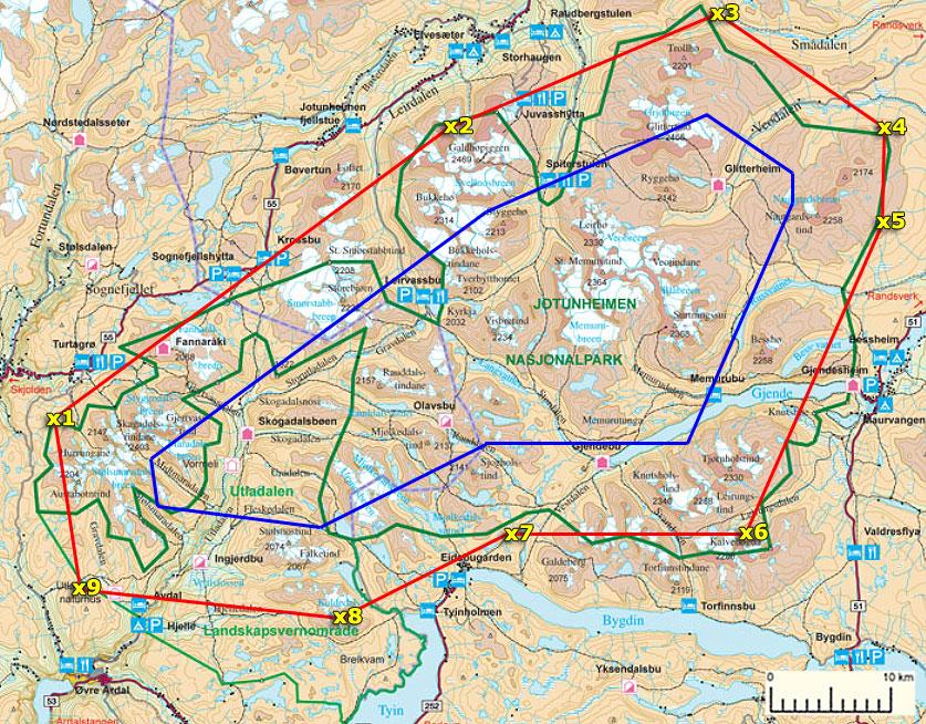 kart jotunheimen pionerflyving Jotunheimen kart jotunheimen
