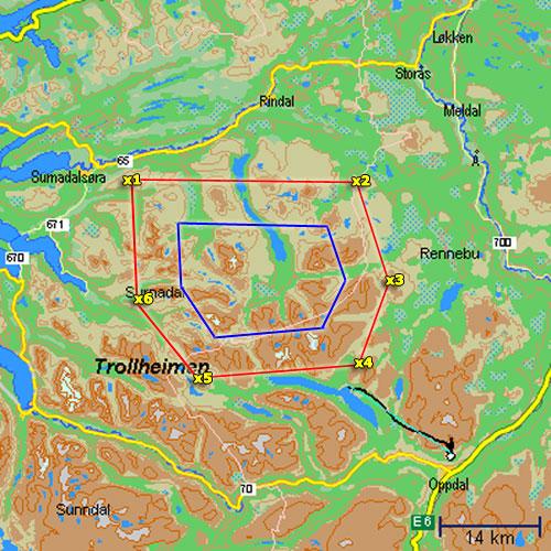 kart over trollheimen pionerflyving trollheimen kart over trollheimen